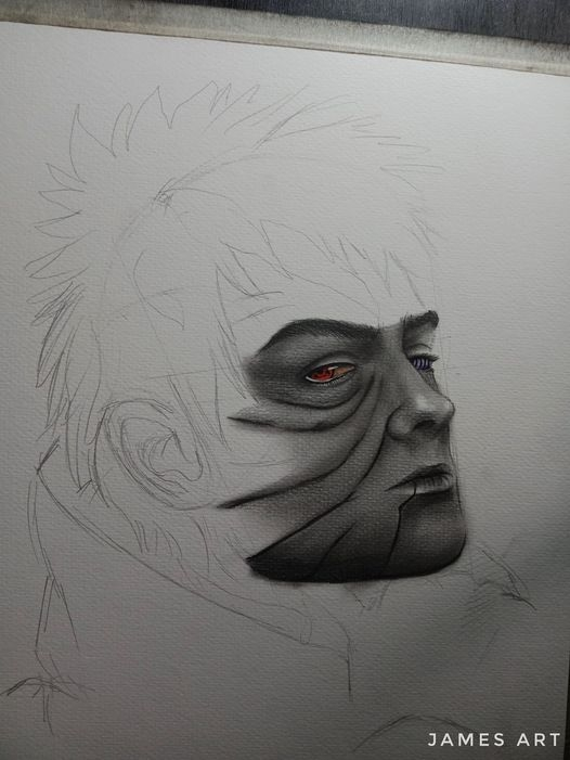 OBITO UCHIHA WIP by James Lourene Elegino Factor